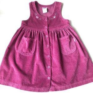 Vintage OshKosh Corduroy Dress Button Down Jumper